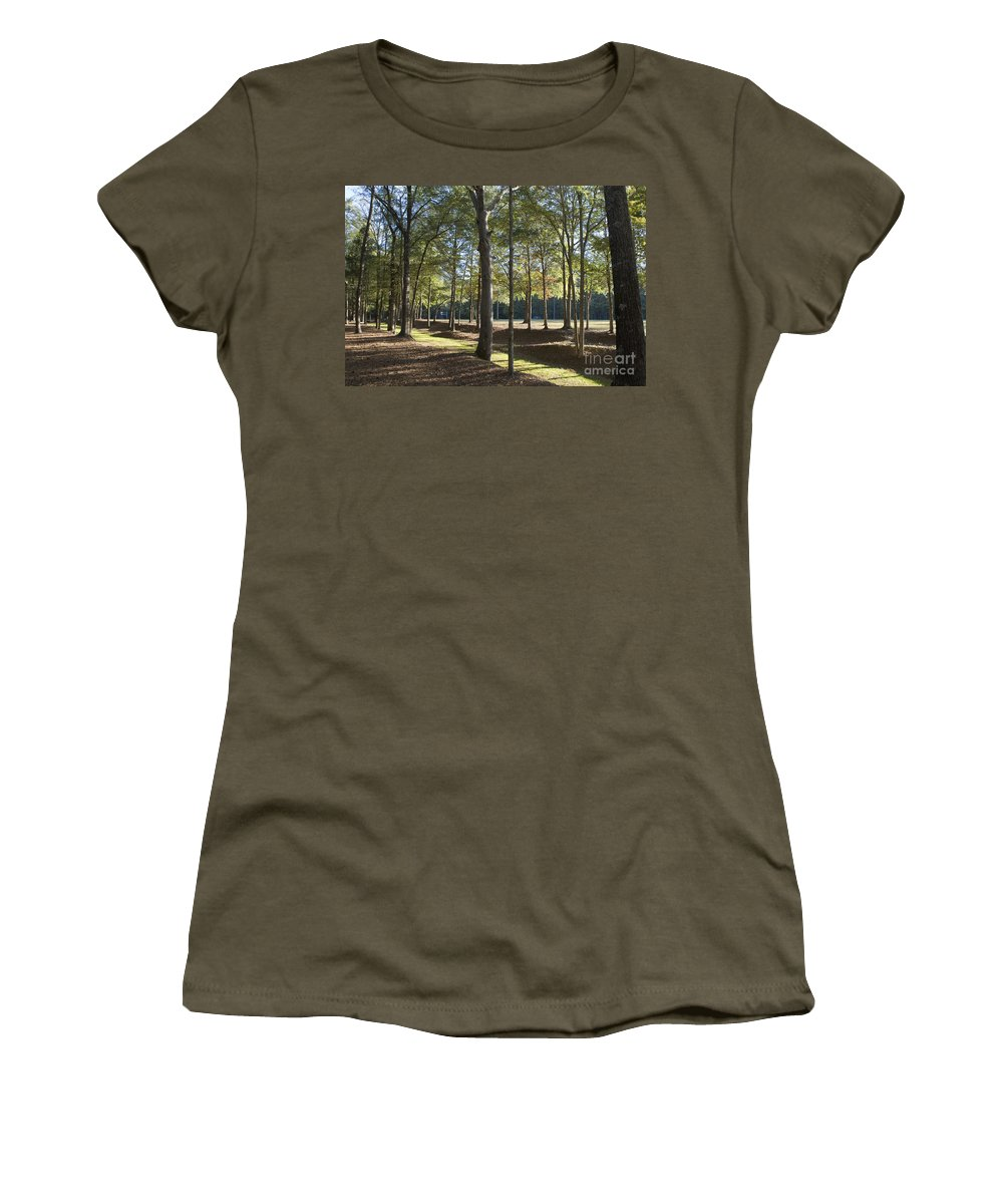 Island Fort Road Women's T-Shirt featuring the photograph Island Fort Road Ninety Six National Historic Site by Jason O Watson