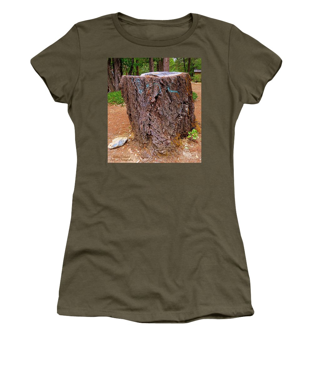 Acrylic Prints Women's T-Shirt featuring the photograph It Was A Tree by Bobbee Rickard