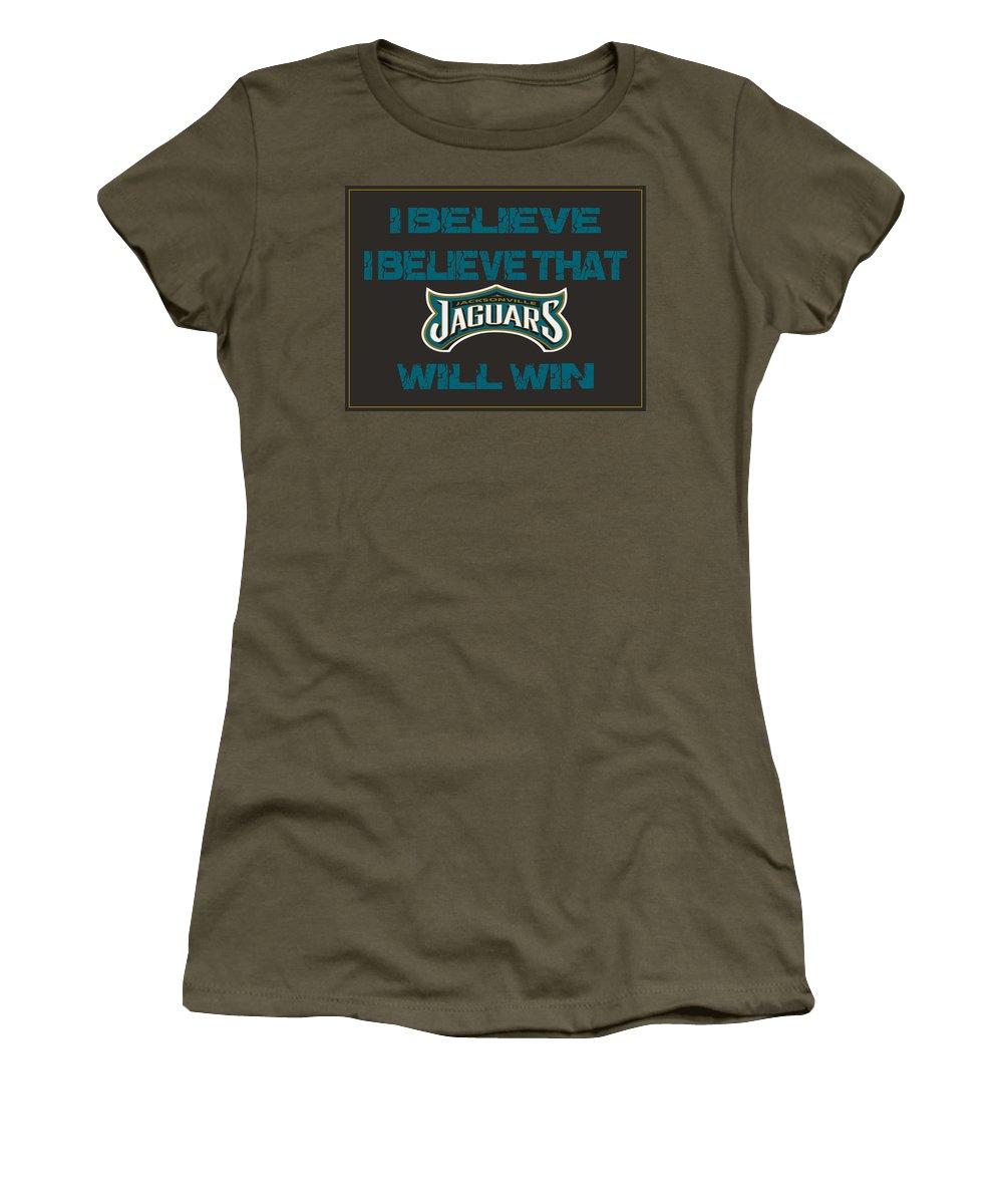 Jaguars Women's T-Shirt featuring the photograph Jacksonville Jaguars I Believe by Joe Hamilton