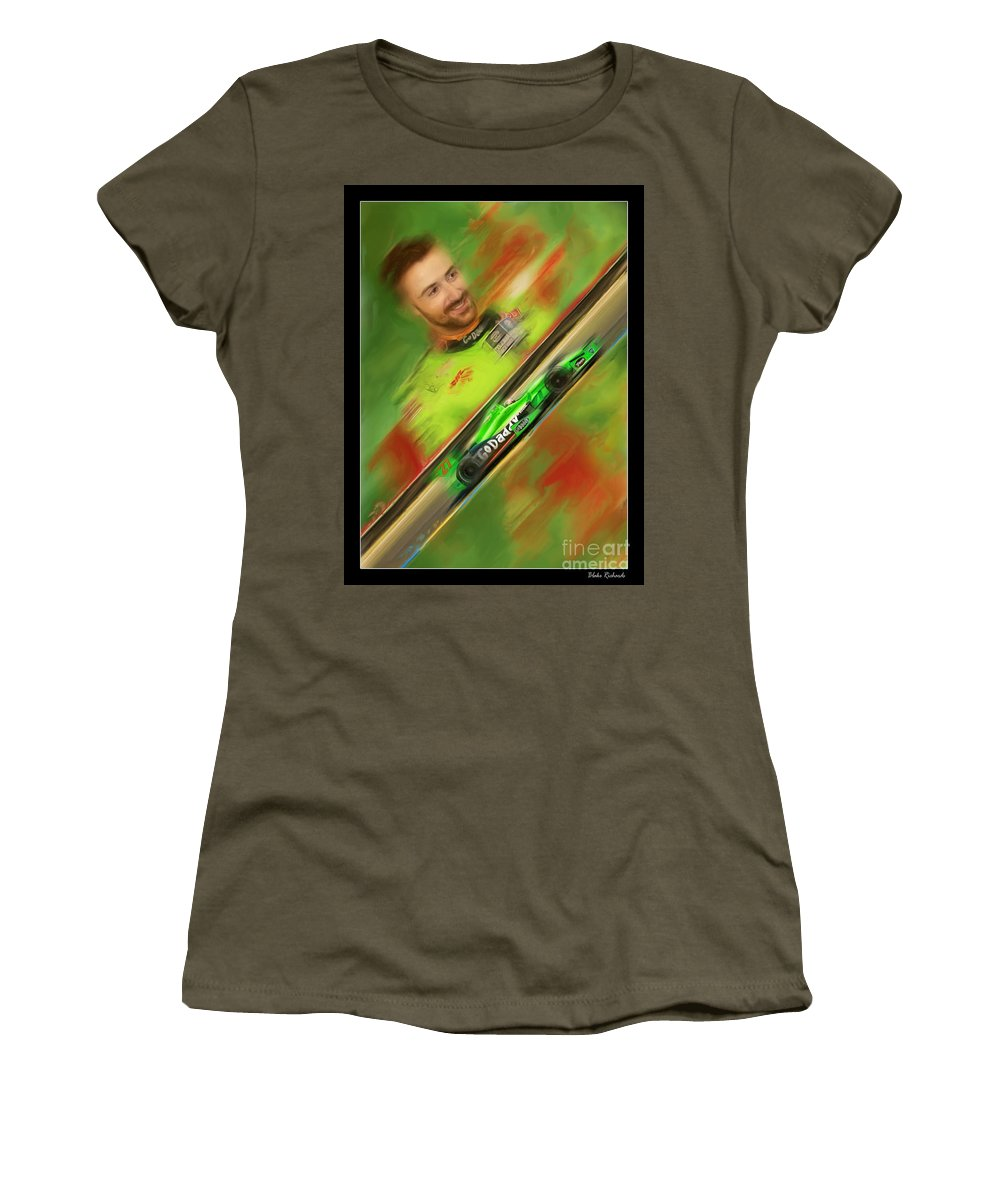 James Hinchcliffe Women's T-Shirt featuring the photograph James Hinchcliffe by Blake Richards