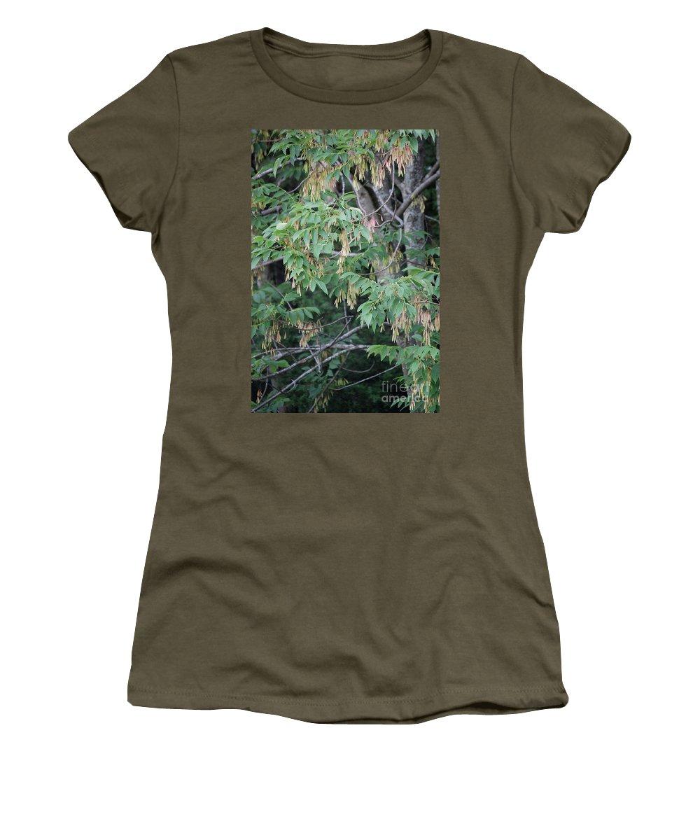 Irst Star Art Women's T-Shirt featuring the photograph jammer Dripping Seeds by First Star Art