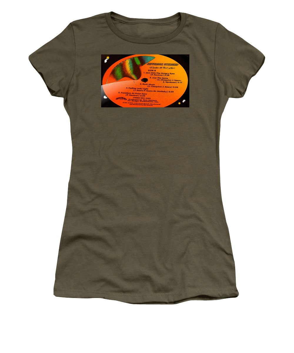 Jefferson Starship Women's T-Shirt featuring the photograph Jefferson Starship Side B by Marcello Cicchini