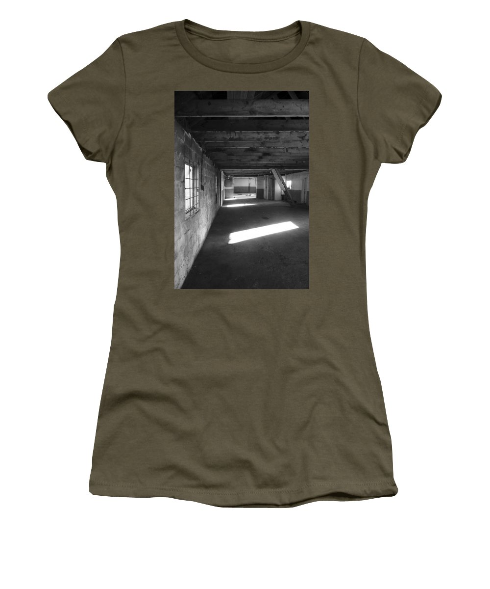 Empty Women's T-Shirt (Athletic Fit) featuring the photograph Joe's Garage by David Pantuso