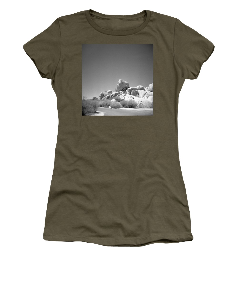Joshua Tree Women's T-Shirt (Athletic Fit) featuring the photograph Joshua Tree Holga 3 by Alex Snay