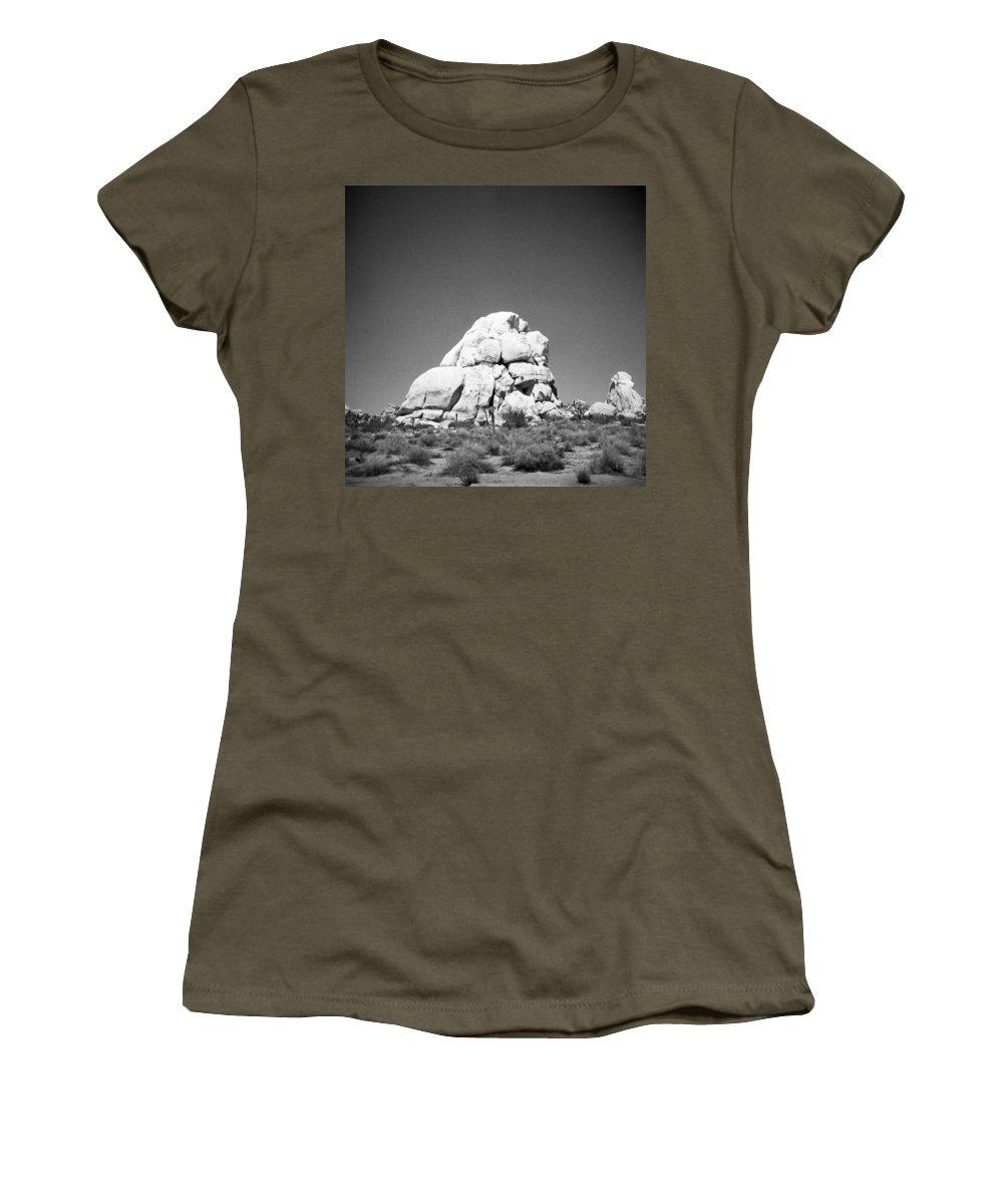 Joshua Tree Women's T-Shirt (Athletic Fit) featuring the photograph Joshua Tree Holga 9 by Alex Snay