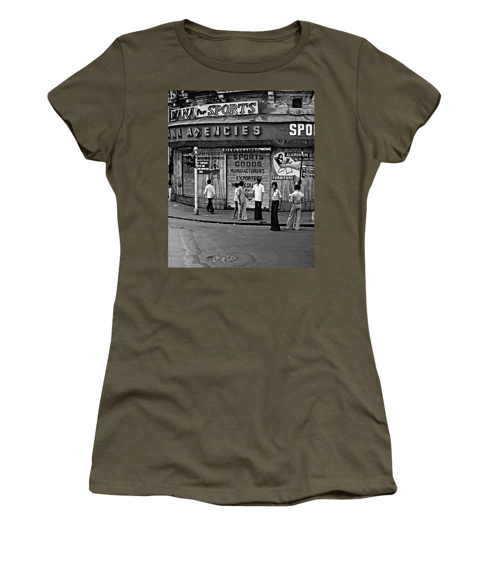 India Women's T-Shirt featuring the photograph Just Buddies Bw by Steve Harrington