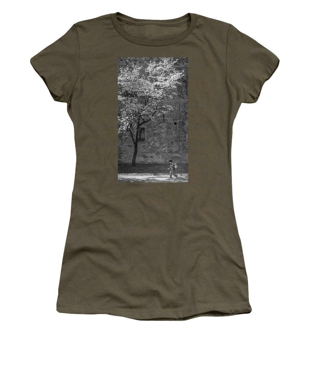 Walking Women's T-Shirt featuring the photograph Just For A Walk by TouTouke A Y