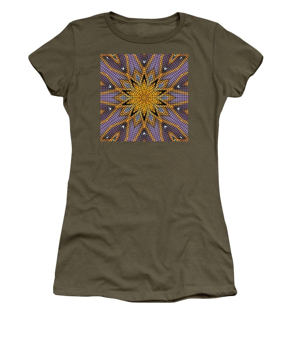 Kaleidoscope Women's T-Shirt featuring the digital art Kaleidoscope 5 by Ron Bissett