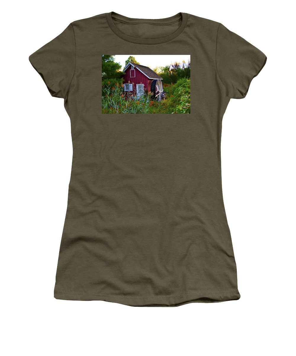 Kimberton Women's T-Shirt featuring the photograph Kimberton Mill by Bill Cannon