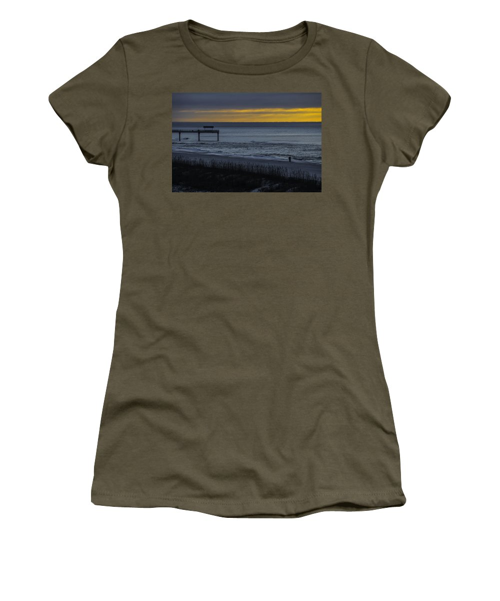 Palm Women's T-Shirt featuring the digital art Kisses At Sunrise by Michael Thomas