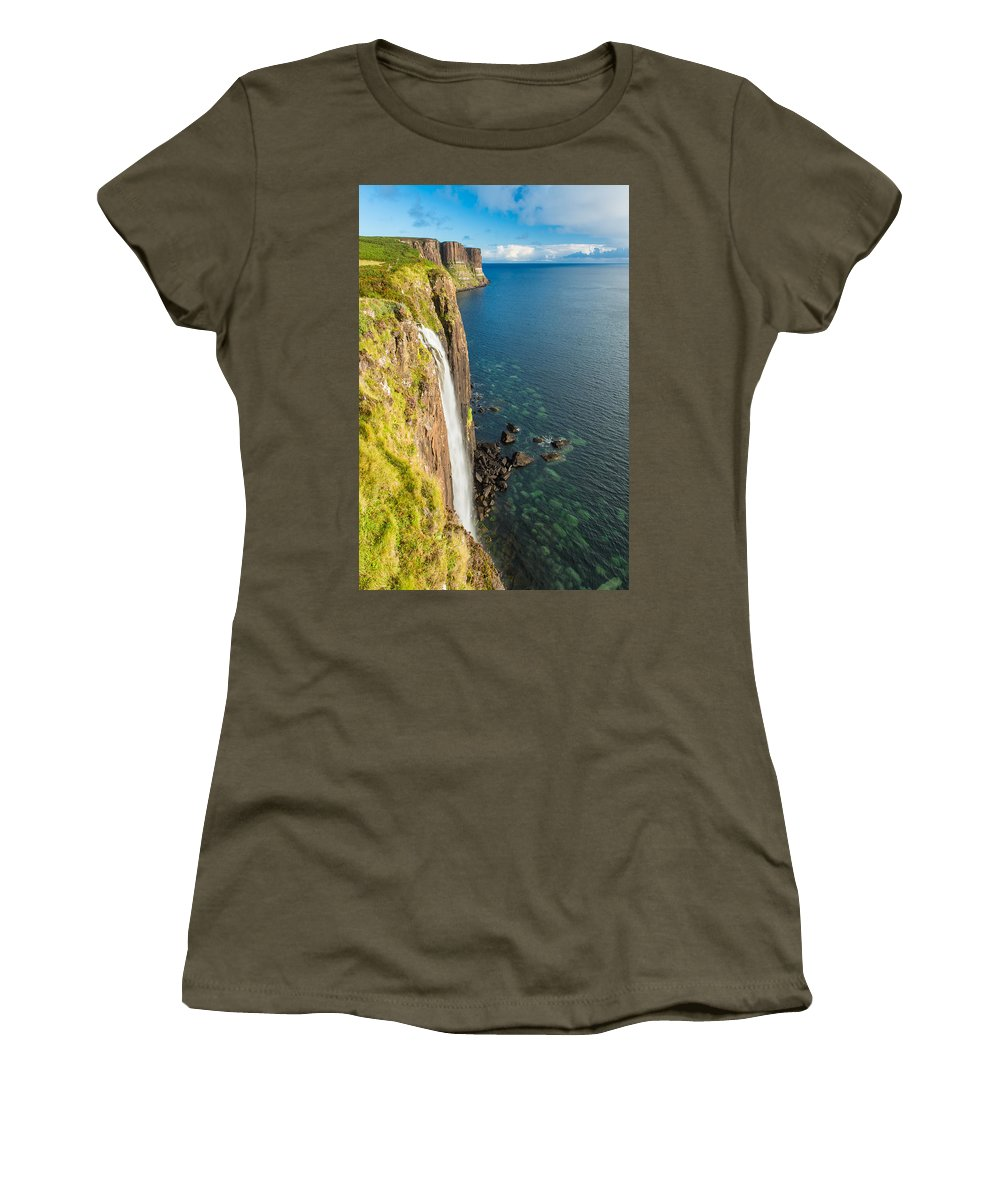 Europe Women's T-Shirt featuring the photograph Kitl Rock Waterfall by Michael Blanchette