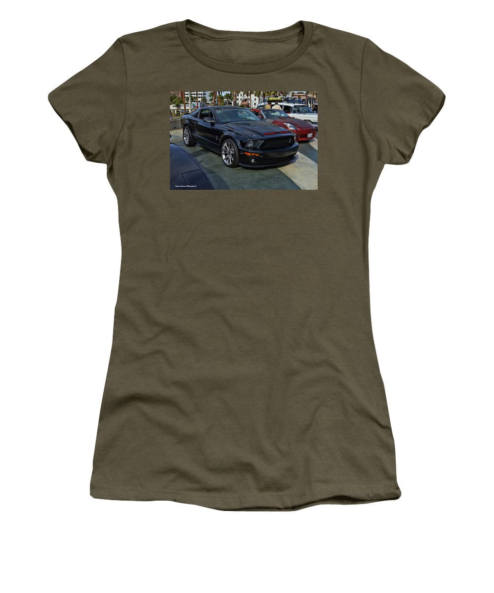 Ford Mustang Women's T-Shirt featuring the photograph Kitt 2008 by Tommy Anderson