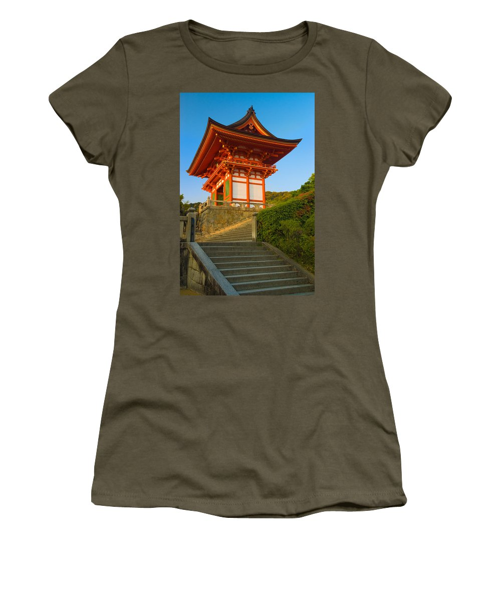 Pagoda Women's T-Shirt featuring the photograph Kiyomizudera Temple by Sebastian Musial