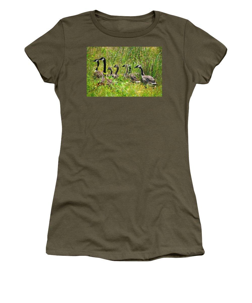 La Familia Women's T-Shirt featuring the photograph La Familia by Maria Urso