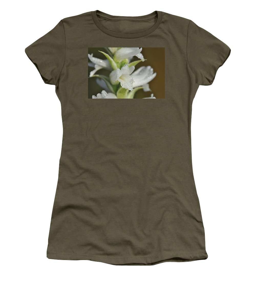 Ladies' Tresses Women's T-Shirt featuring the photograph Ladies' Tresses by Kathryn Lund Johnson