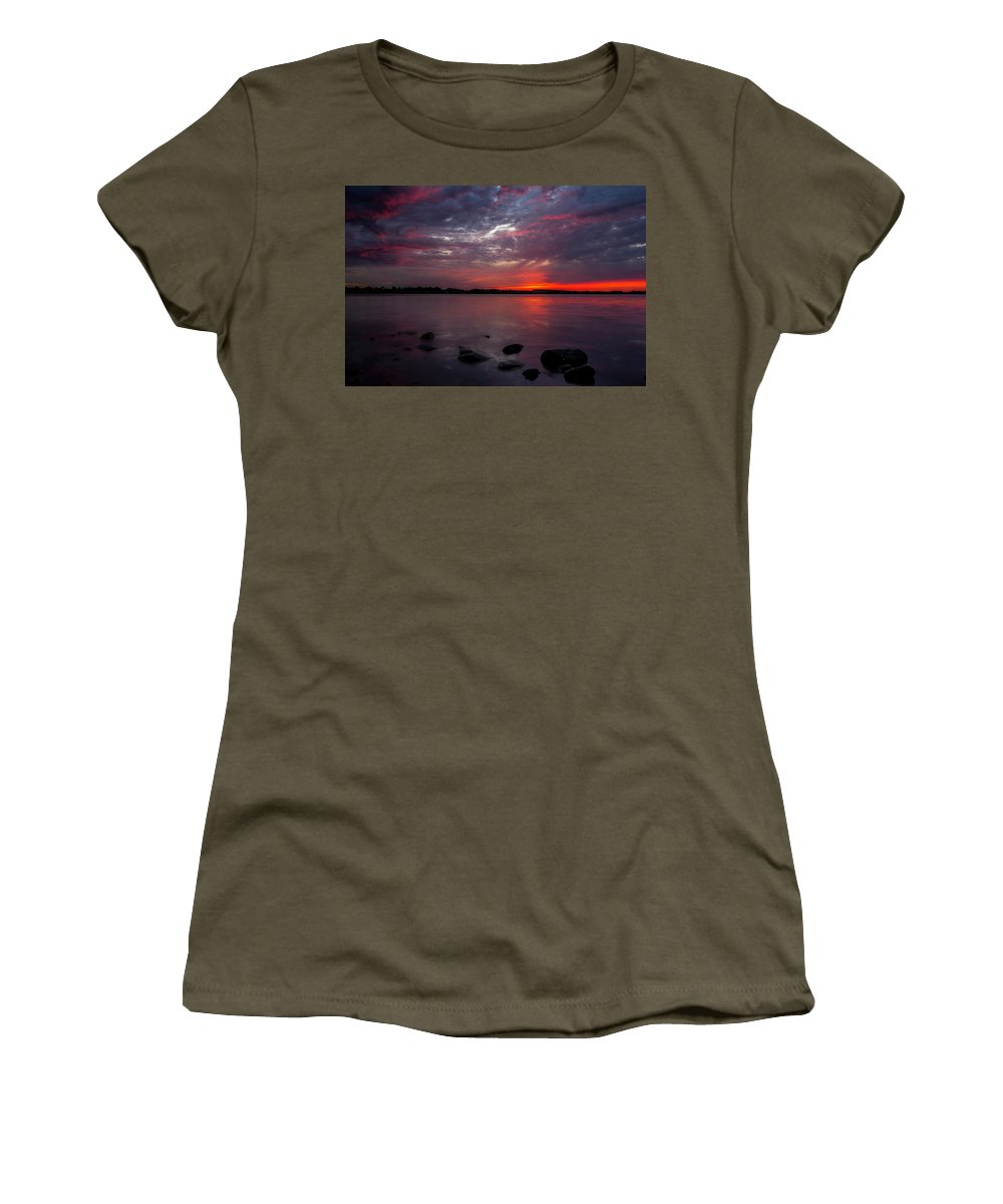 Lake Women's T-Shirt featuring the photograph Lake Herman Sunset by Aaron J Groen