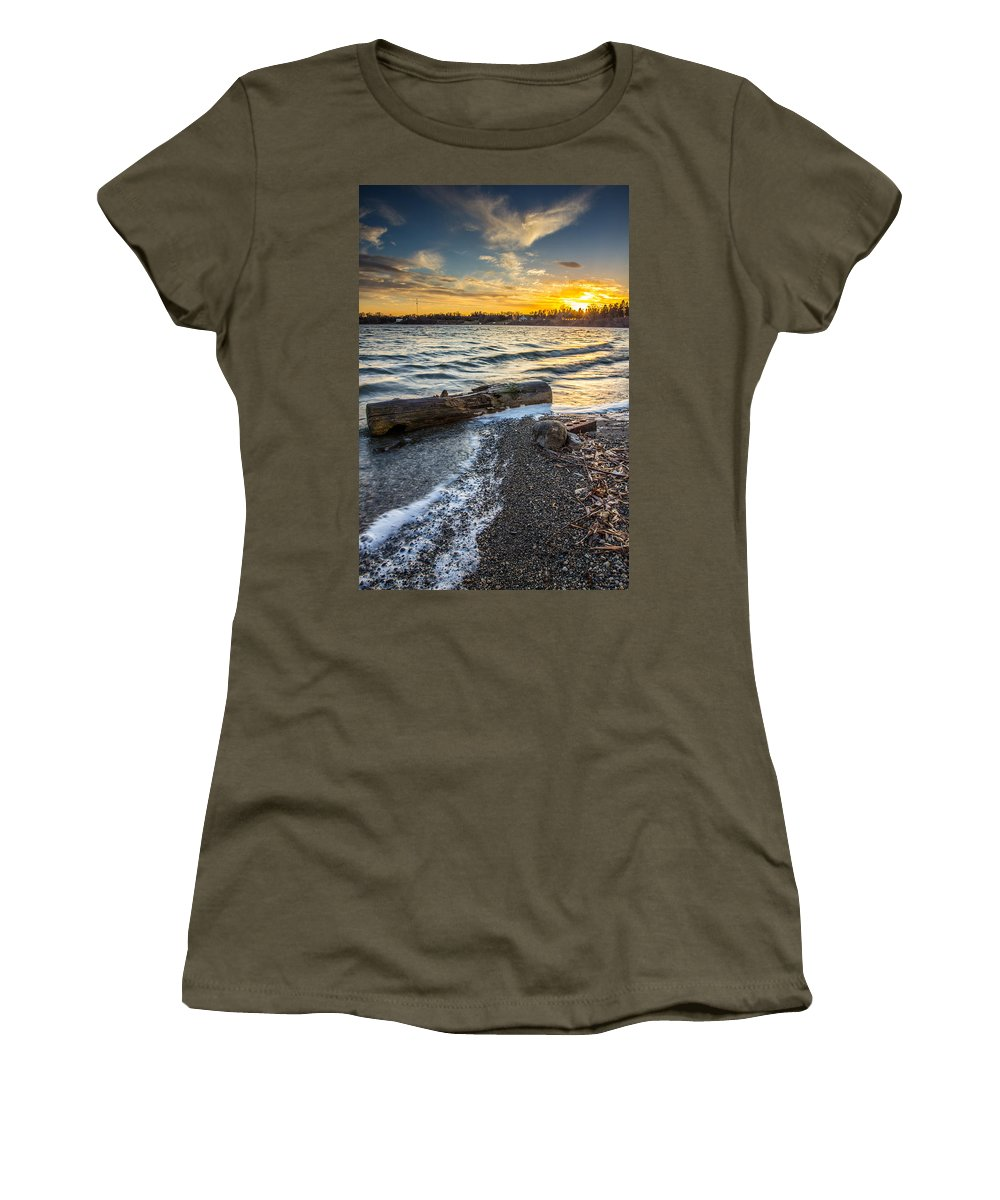 Lake Women's T-Shirt featuring the photograph Lake Yankton Vertical by Aaron J Groen