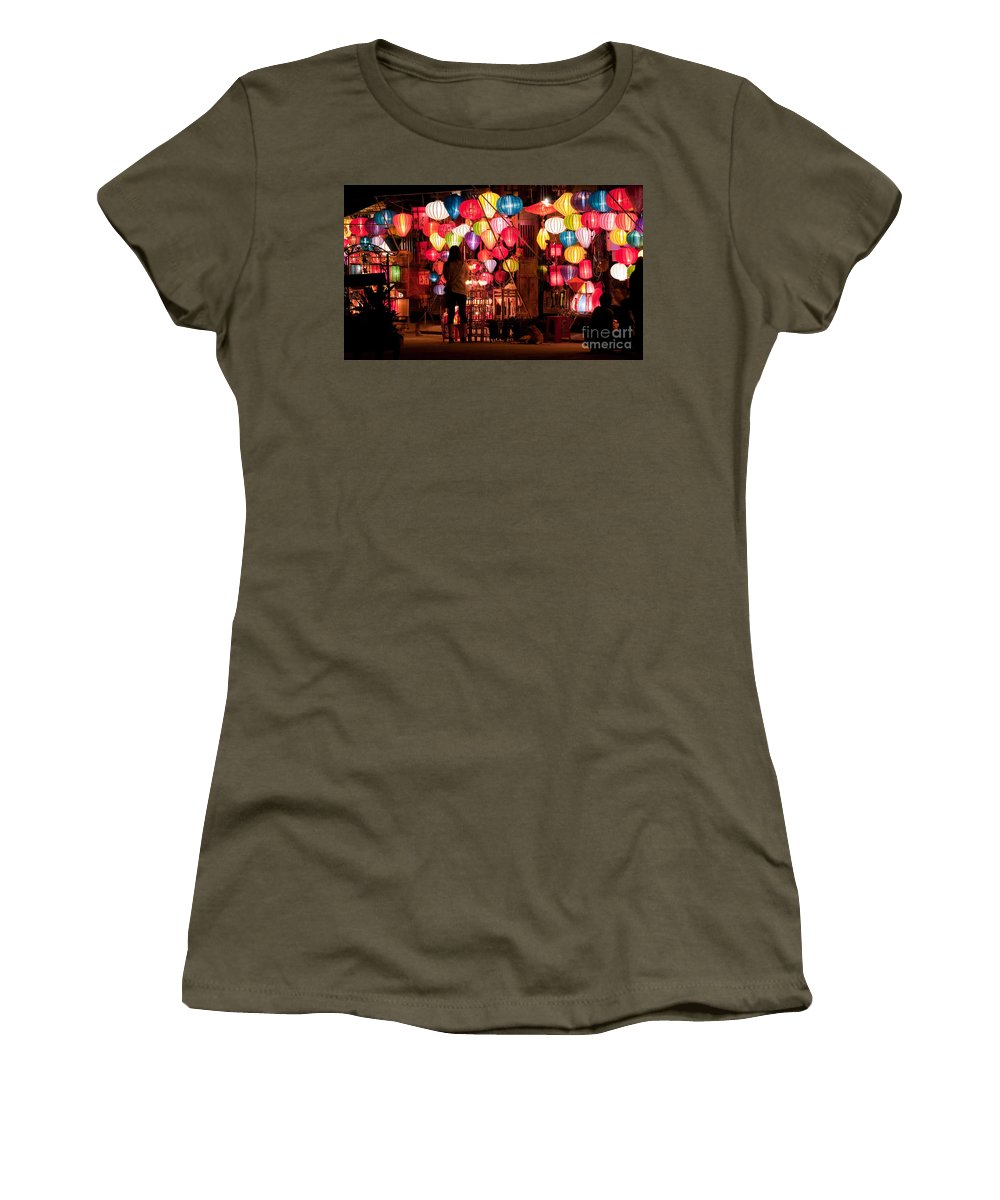 Vietnam Women's T-Shirt featuring the photograph Lantern Stall 01 by Rick Piper Photography