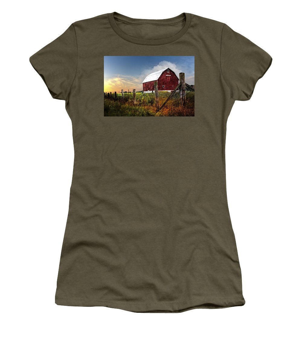Appalachia Women's T-Shirt (Athletic Fit) featuring the photograph Late Summer by Debra and Dave Vanderlaan