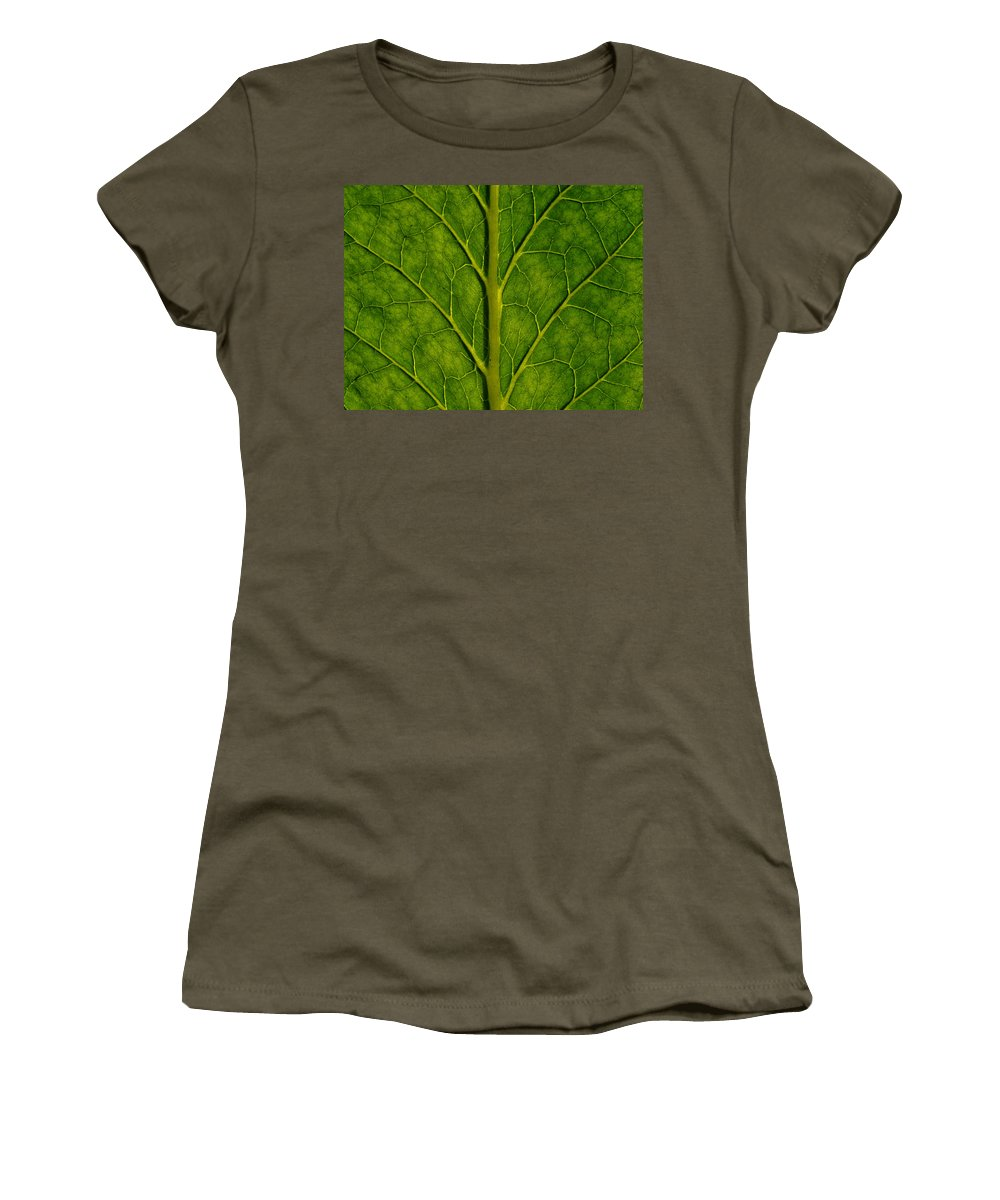 Abstract Women's T-Shirt featuring the photograph Leaf by TouTouke A Y