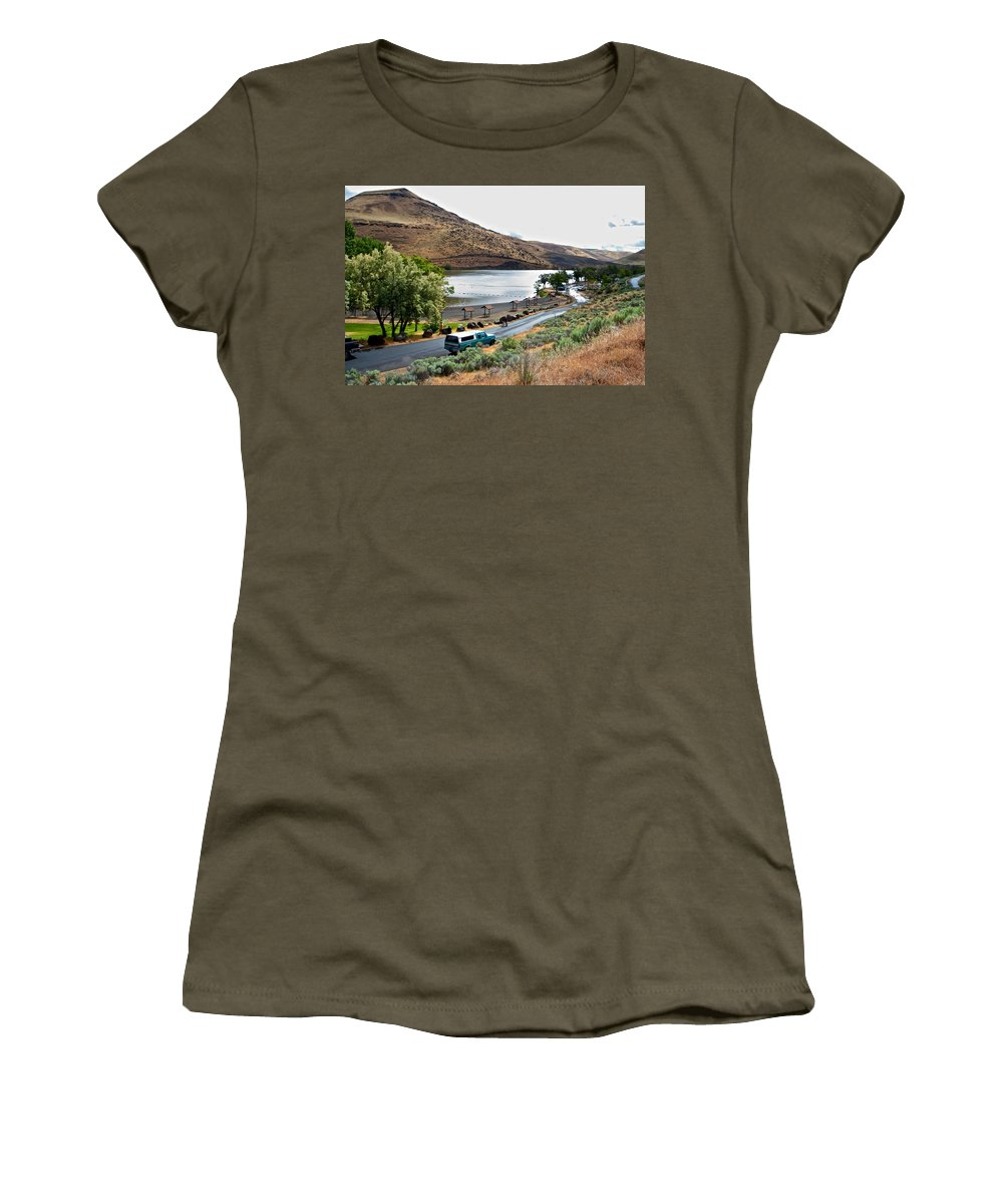 Lepage Rv Park Women's T-Shirt featuring the photograph Lepage Rv Park On Columbia River-or by Ruth Hager