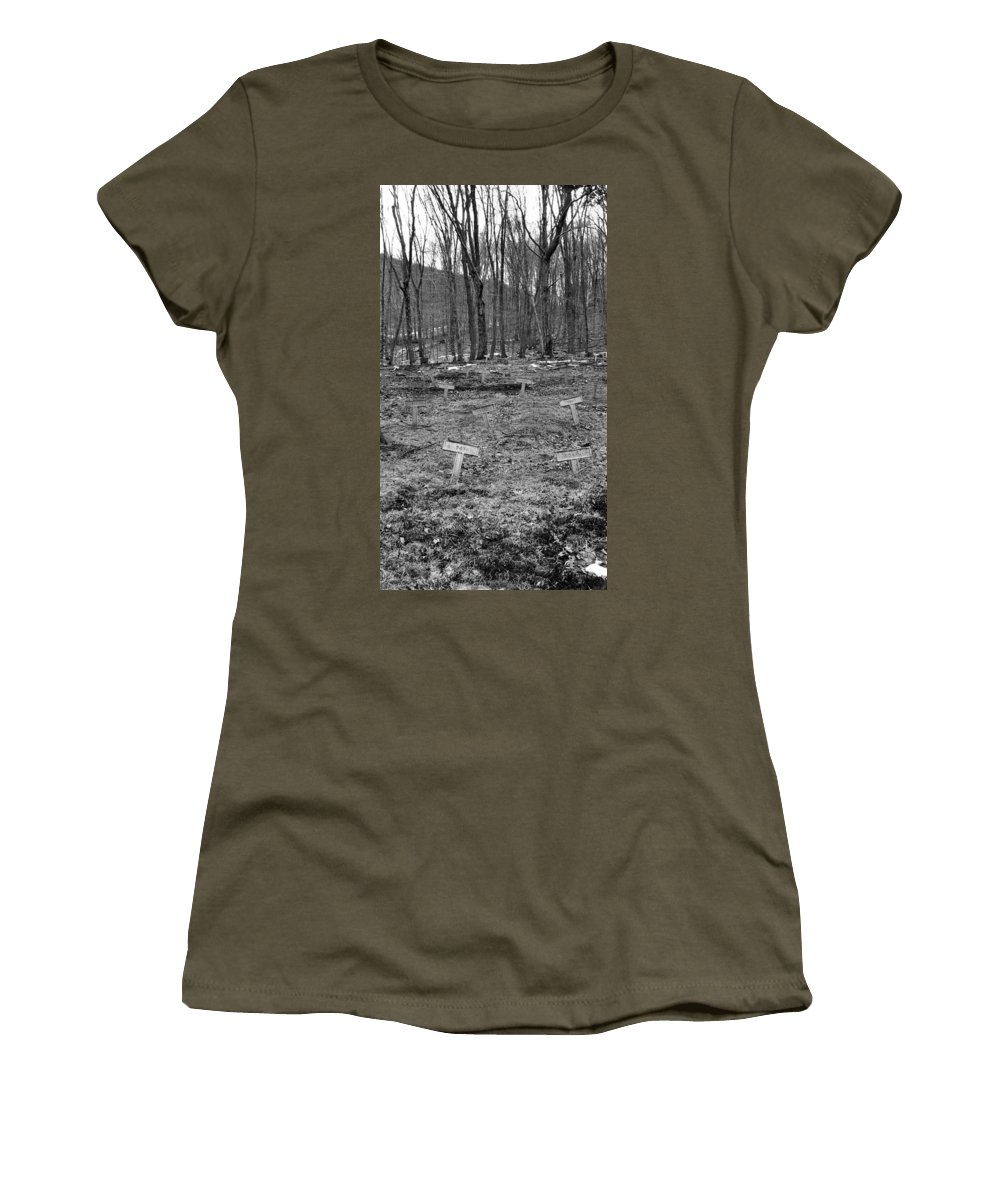 Heart Women's T-Shirt featuring the photograph Letchworth Village by Art Dingo