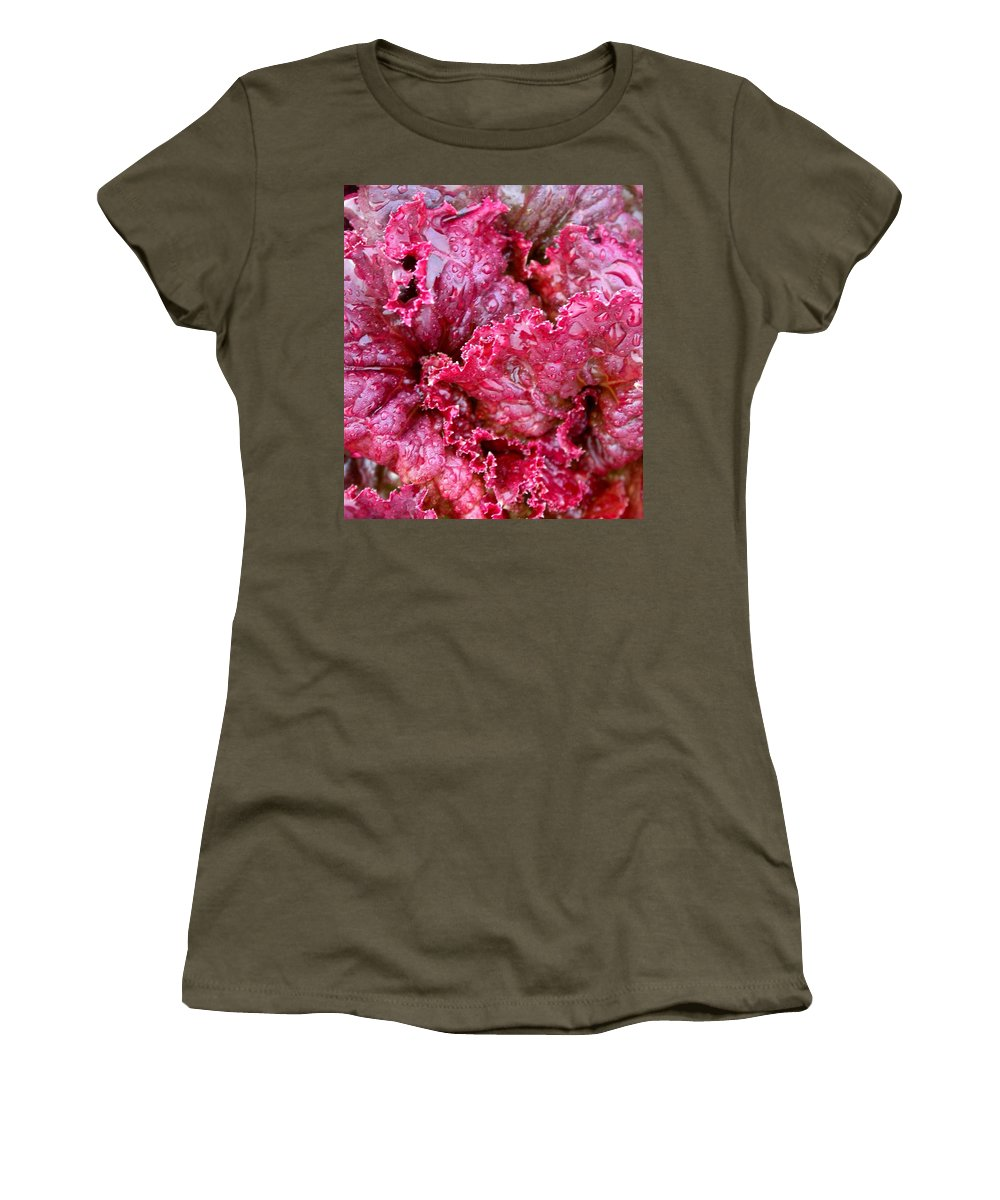Women's T-Shirt featuring the photograph Lettuce by Cynthia Wallentine