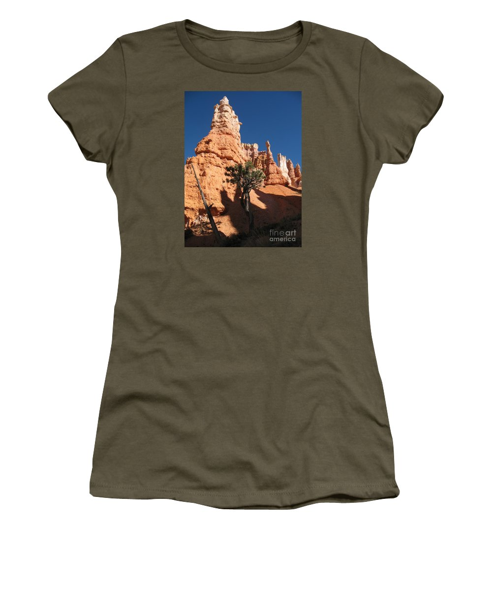Light Women's T-Shirt featuring the photograph Light And Shadow In The Bryce Canyon by Christiane Schulze Art And Photography