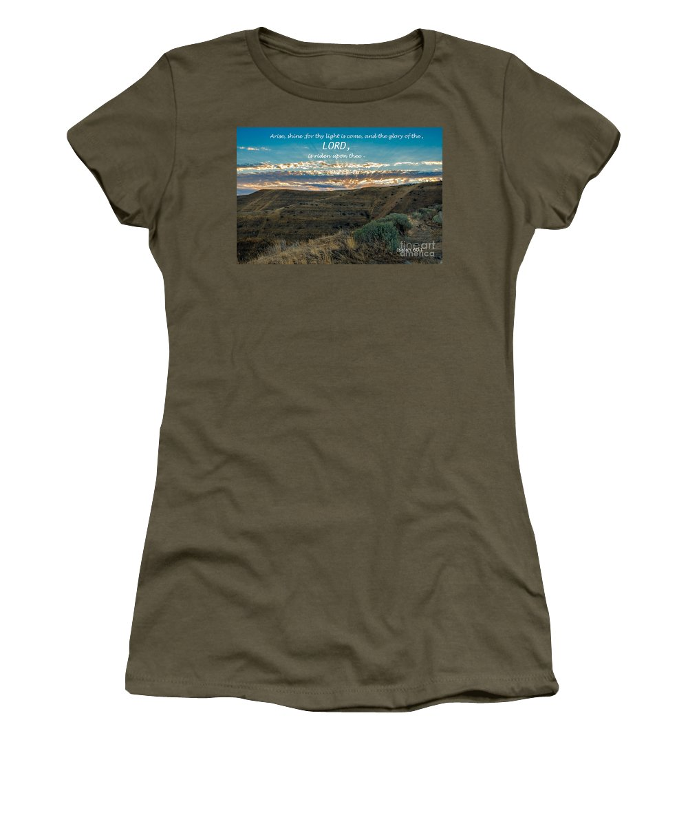 Scripture Photos Women's T-Shirt featuring the photograph Light Of The Lord by Robert Bales