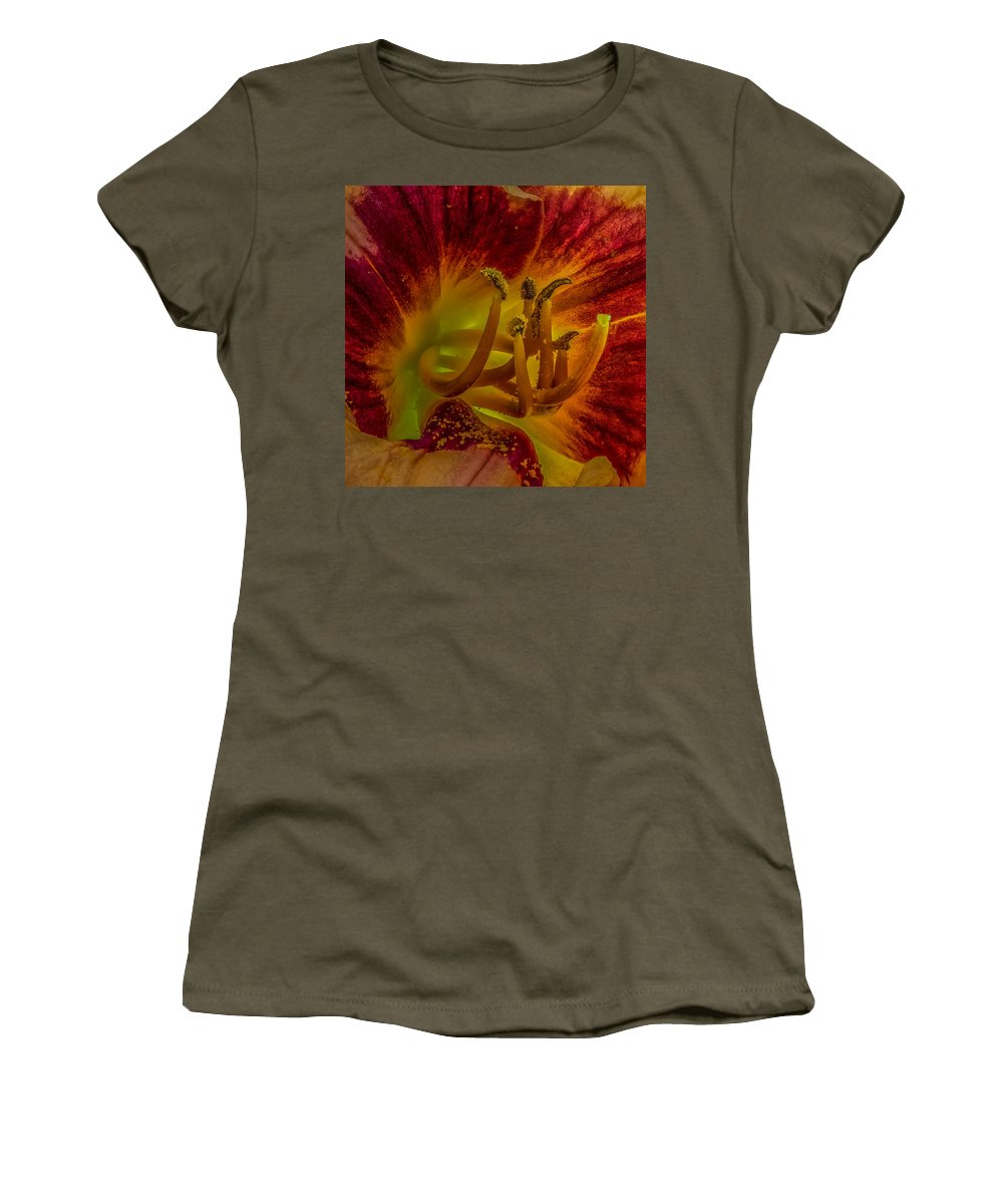 Bloom Women's T-Shirt featuring the photograph Lily Closeup by Paul Freidlund