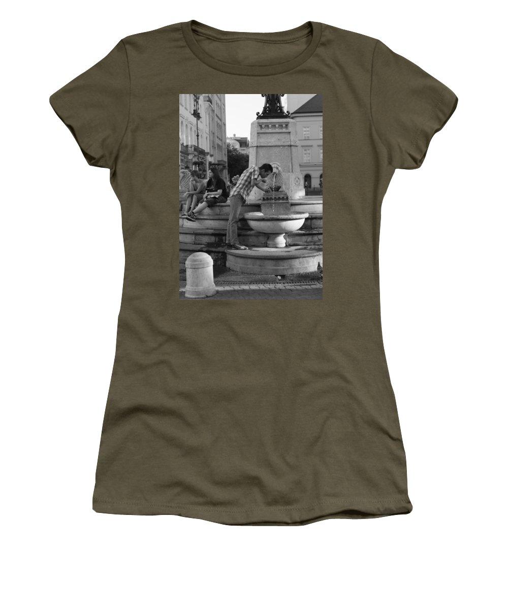 Women's T-Shirt featuring the photograph Lion's Share by Jennifer Ann Henry