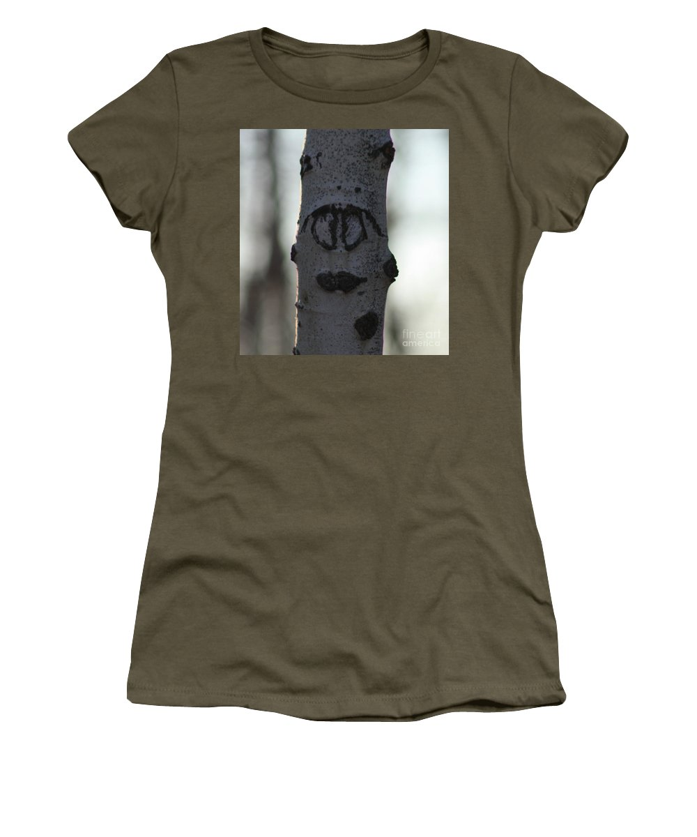 Smiley Faces Women's T-Shirt featuring the photograph Lips by Brandi Maher