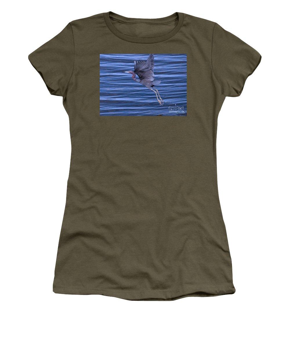 Little Women's T-Shirt featuring the photograph Little Blue Air by Photos By Cassandra