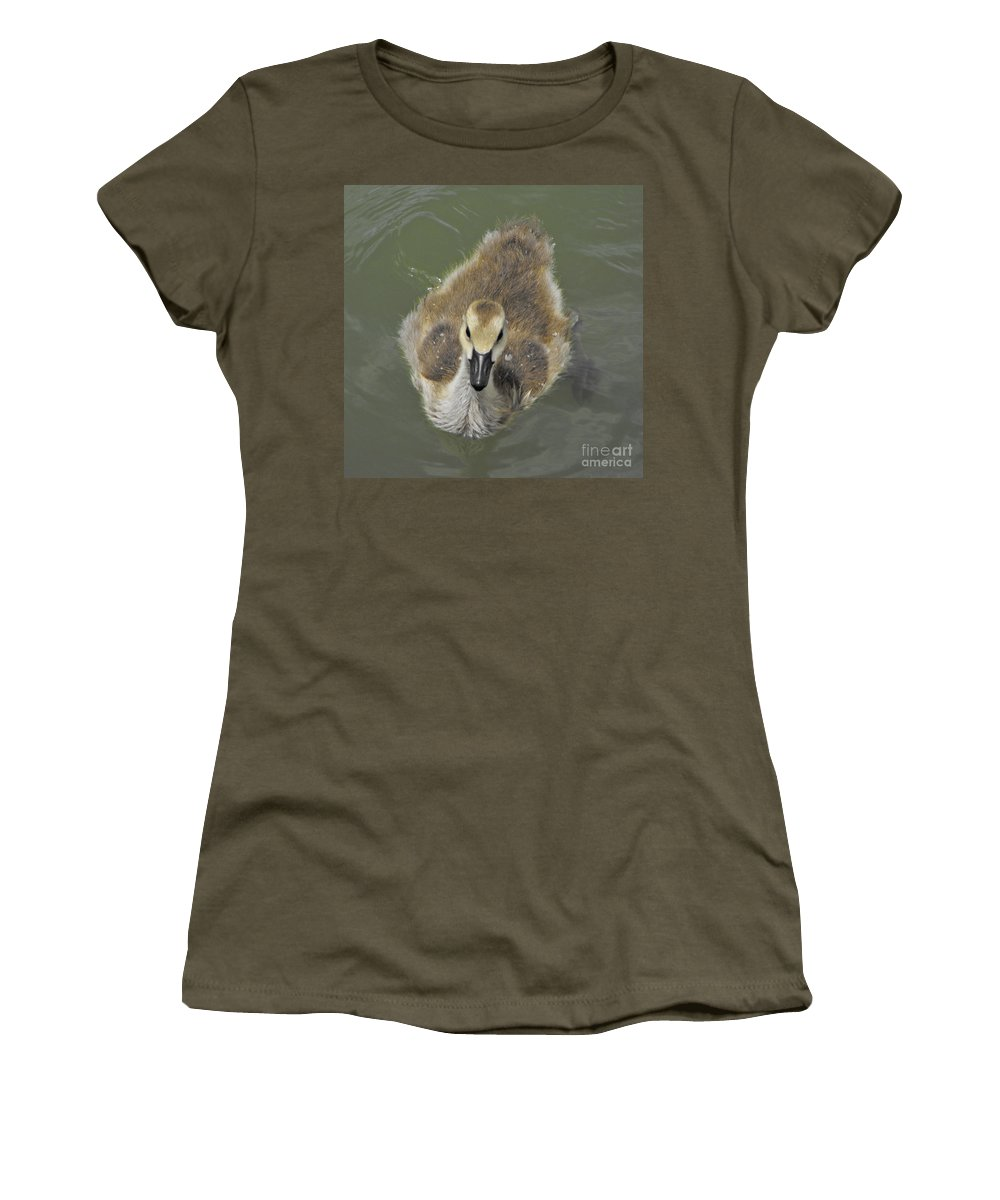 Duck Women's T-Shirt featuring the photograph Little Guy by Brandi Maher