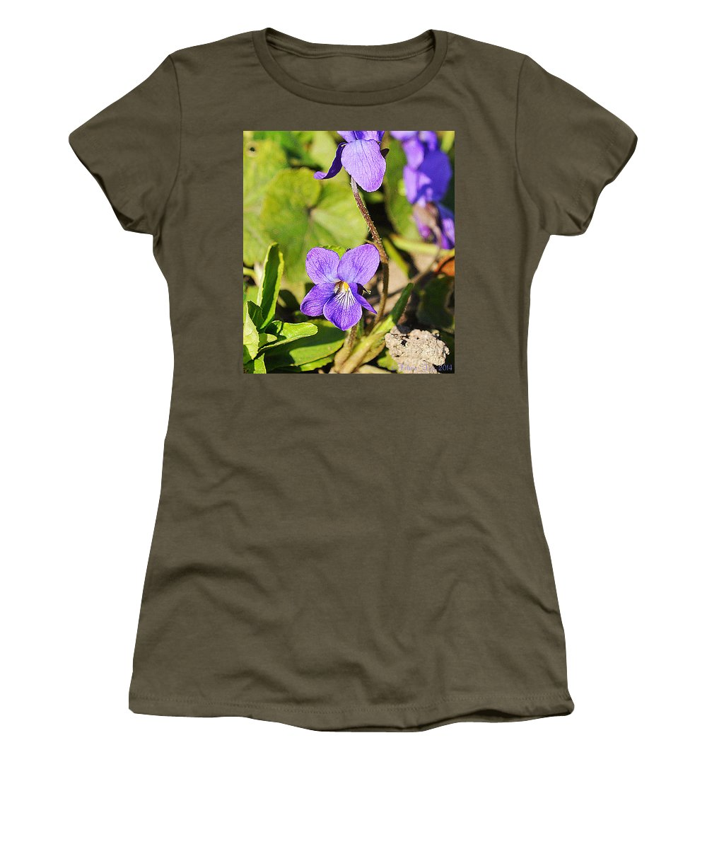 Petals Women's T-Shirt featuring the photograph Little Shine by Felicia Tica