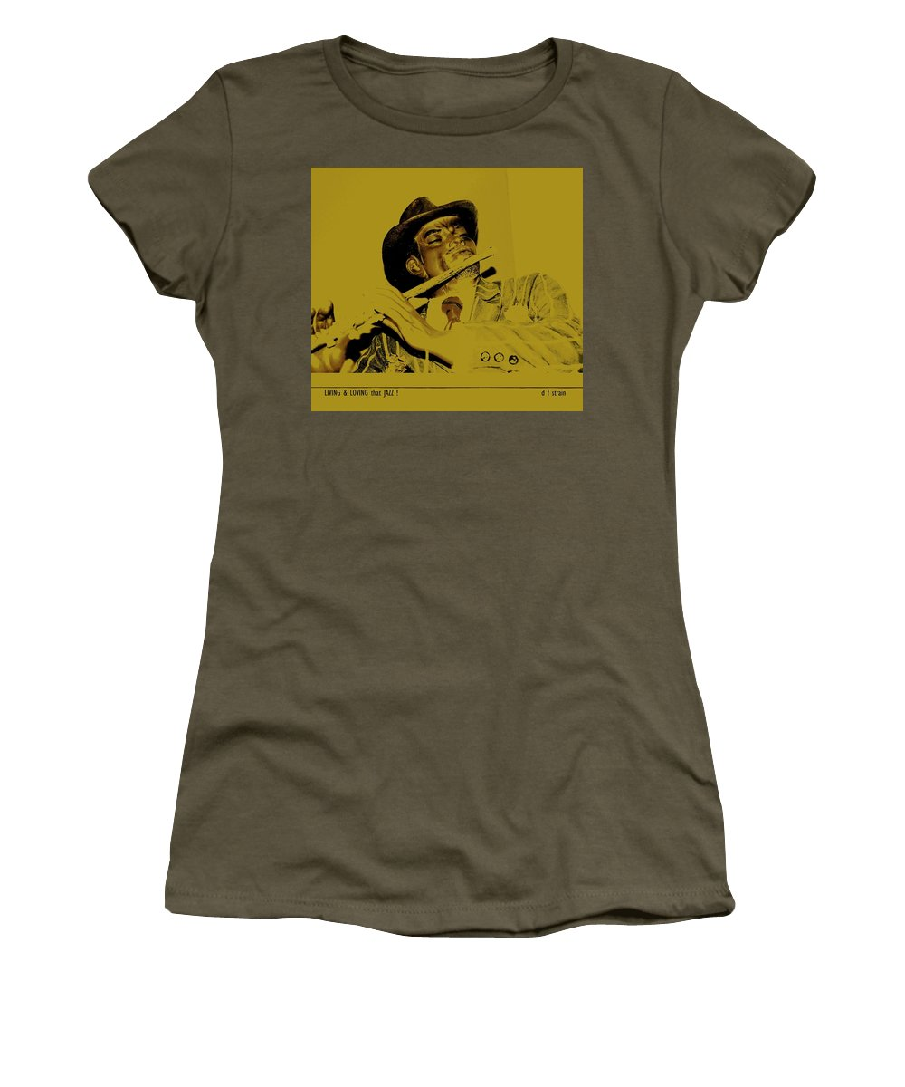 Fineartamerica.com Women's T-Shirt featuring the painting Living And Loving That Jazz by Diane Strain