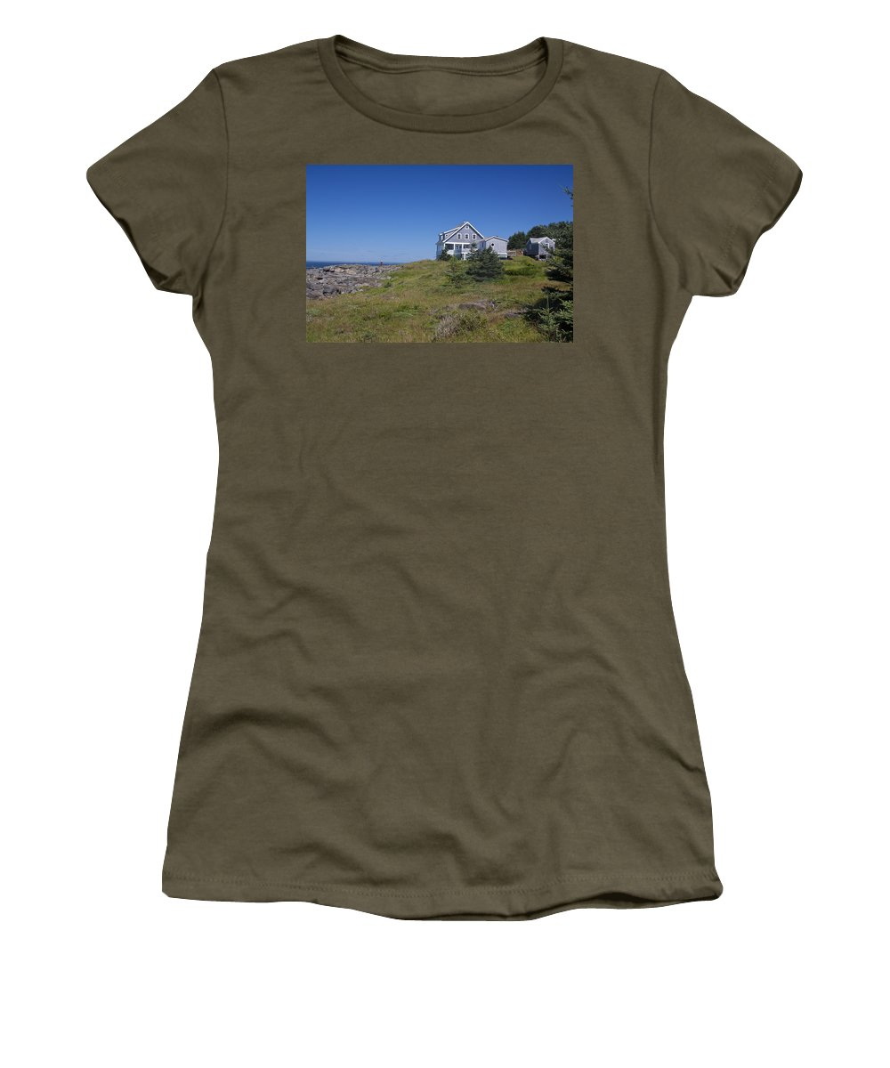 Lobster Women's T-Shirt (Athletic Fit) featuring the photograph Lobster Cove by Jean Macaluso