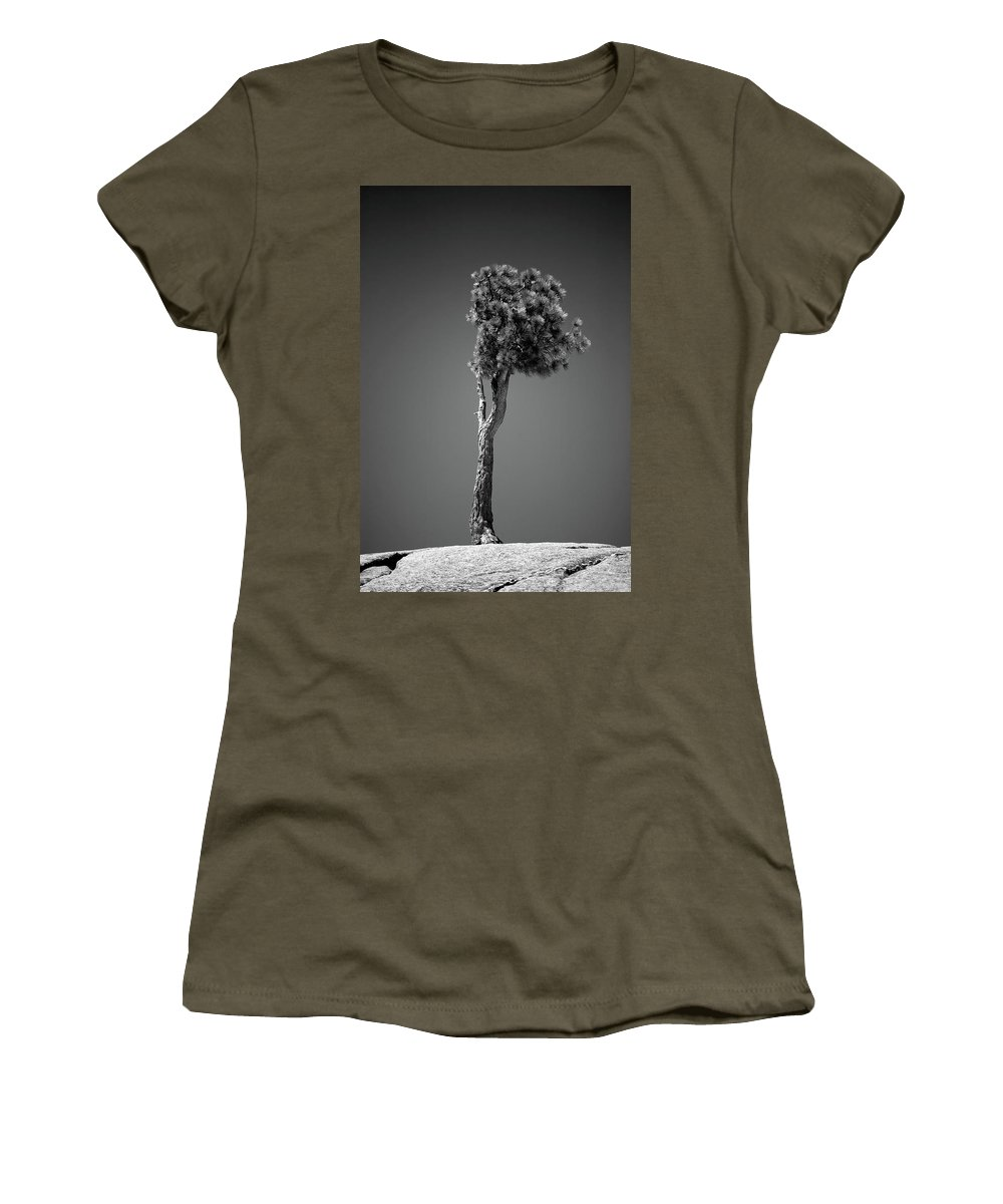 Black & White Women's T-Shirt featuring the photograph Lone Pine II by Peter Tellone