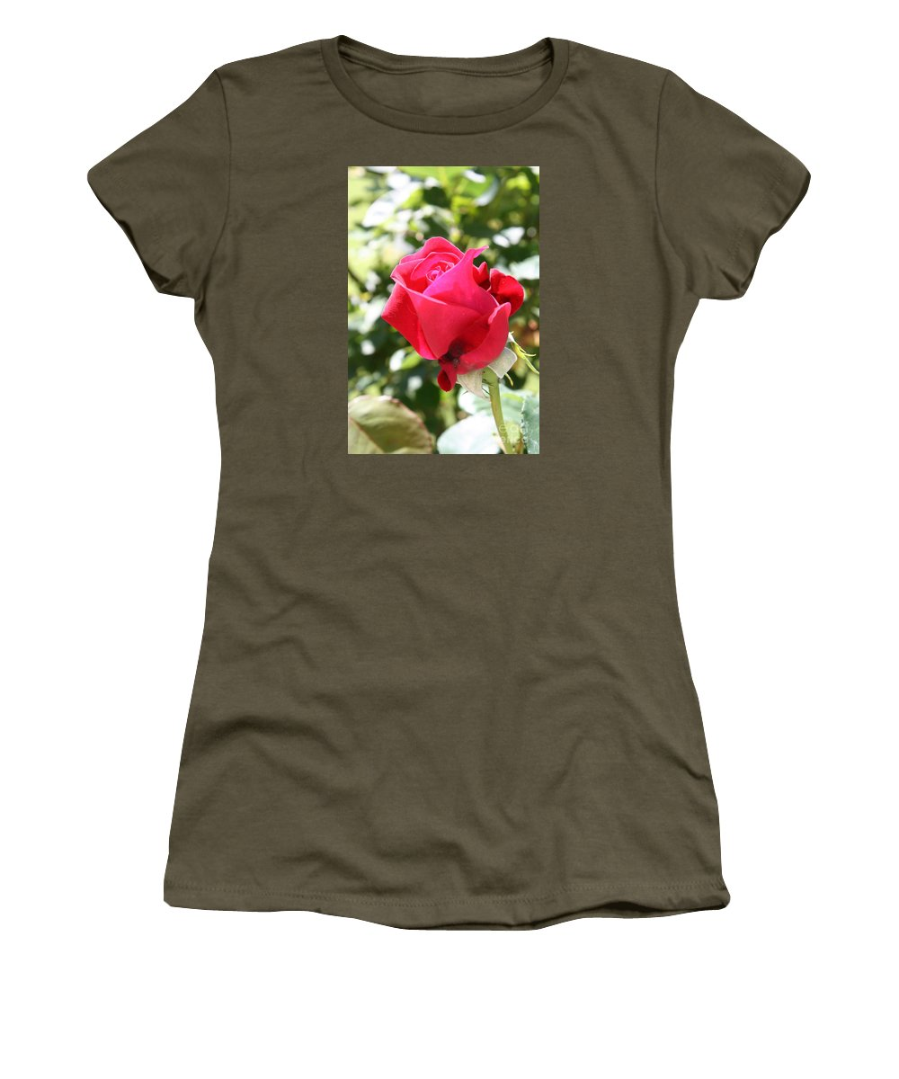 Rose Women's T-Shirt featuring the photograph Love In Red by Christiane Schulze Art And Photography