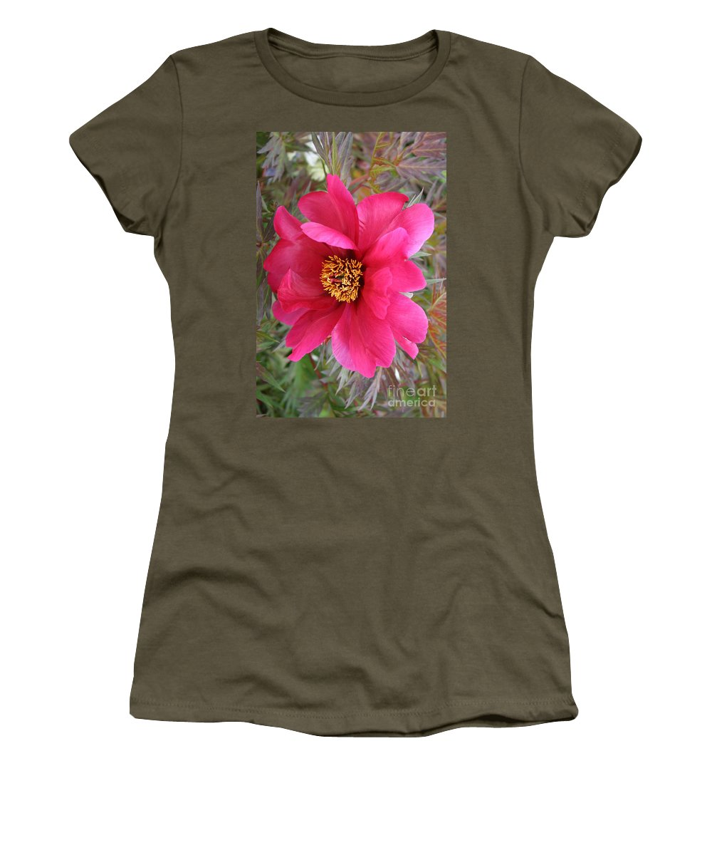 Peony Women's T-Shirt (Athletic Fit) featuring the photograph Lovely Peony by Christiane Schulze Art And Photography
