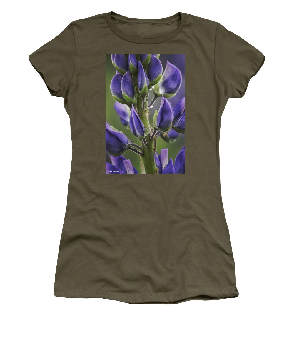 Lupine Women's T-Shirt featuring the photograph Lupine by Fran Gallogly