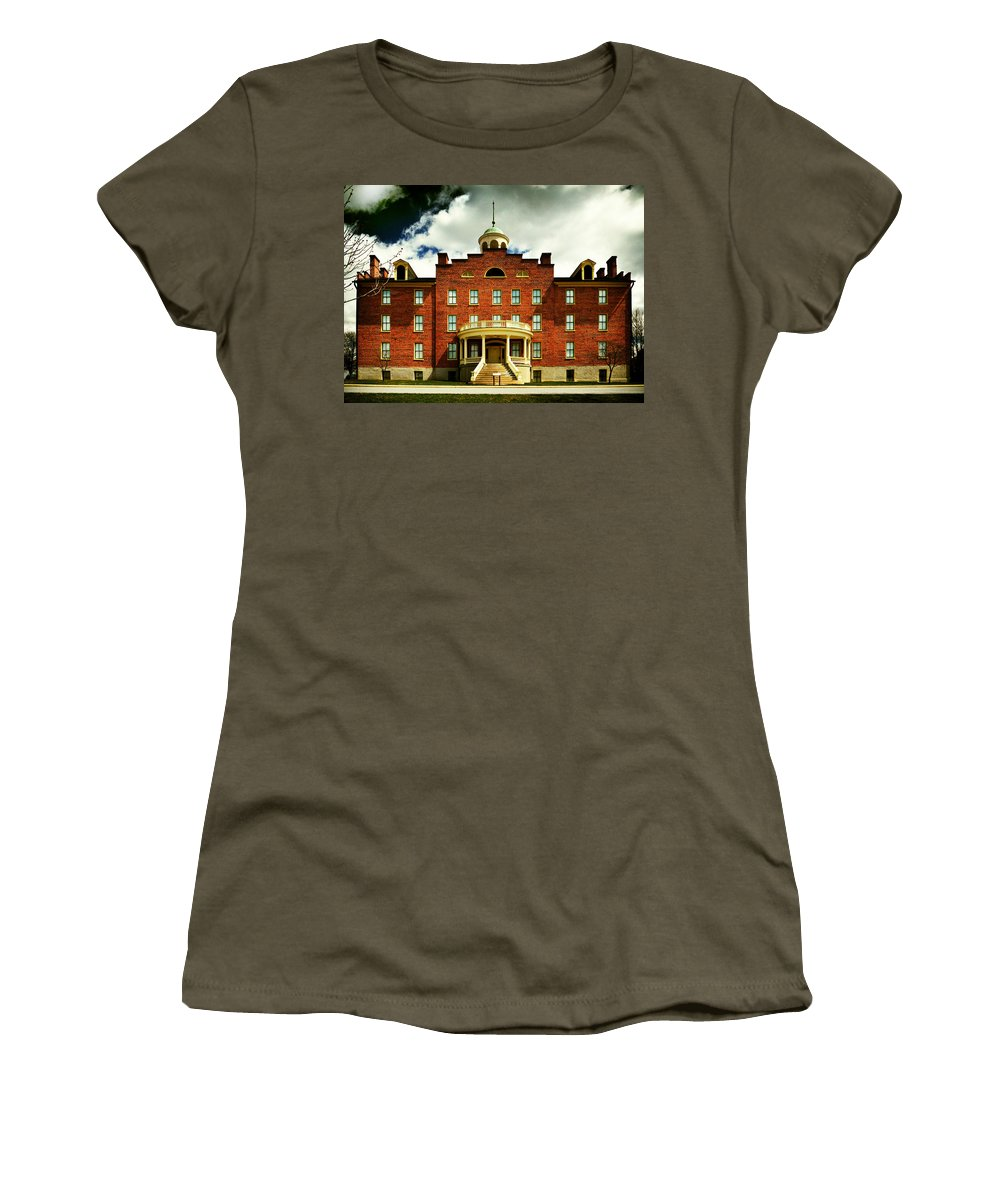 Lutheran Theological Seminary Women's T-Shirt (Athletic Fit) featuring the photograph Lutheran Theological Seminary At Gettysburg by Bill Swartwout Fine Art Photography