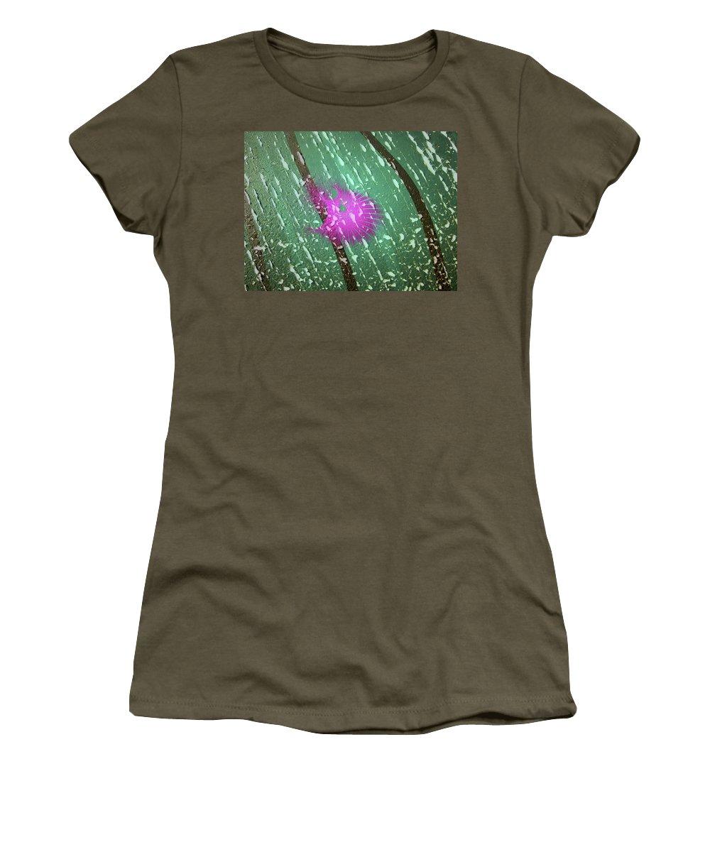 Fractal Art Women's T-Shirt featuring the digital art Magenta Thing by Richard J Cassato