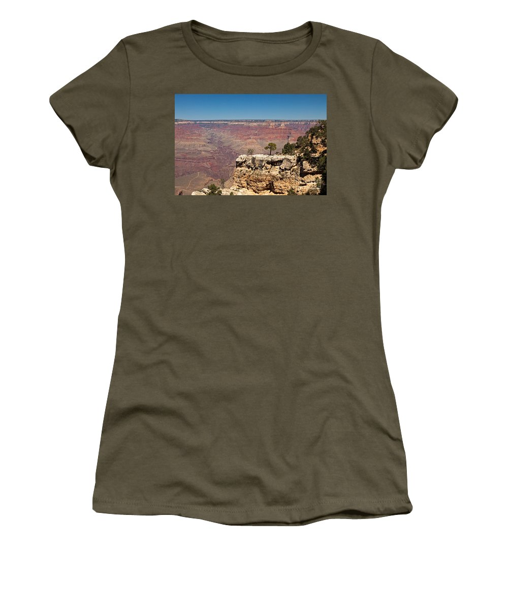 Afternoon Women's T-Shirt (Athletic Fit) featuring the photograph Maricopa Point Grand Canyon National Park by Fred Stearns