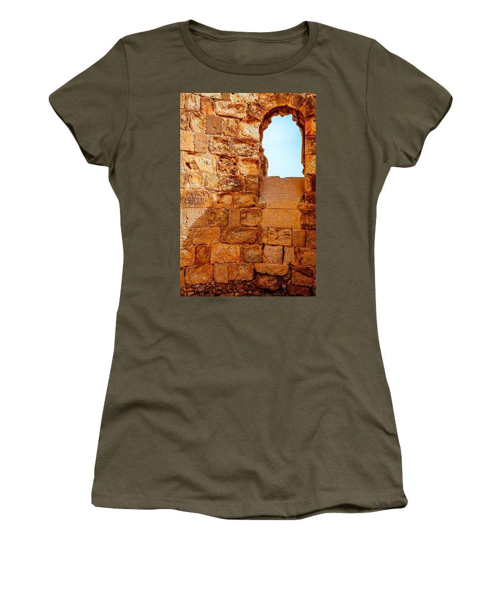 Masada Women's T-Shirt featuring the photograph Masada Fortress by Alexey Stiop