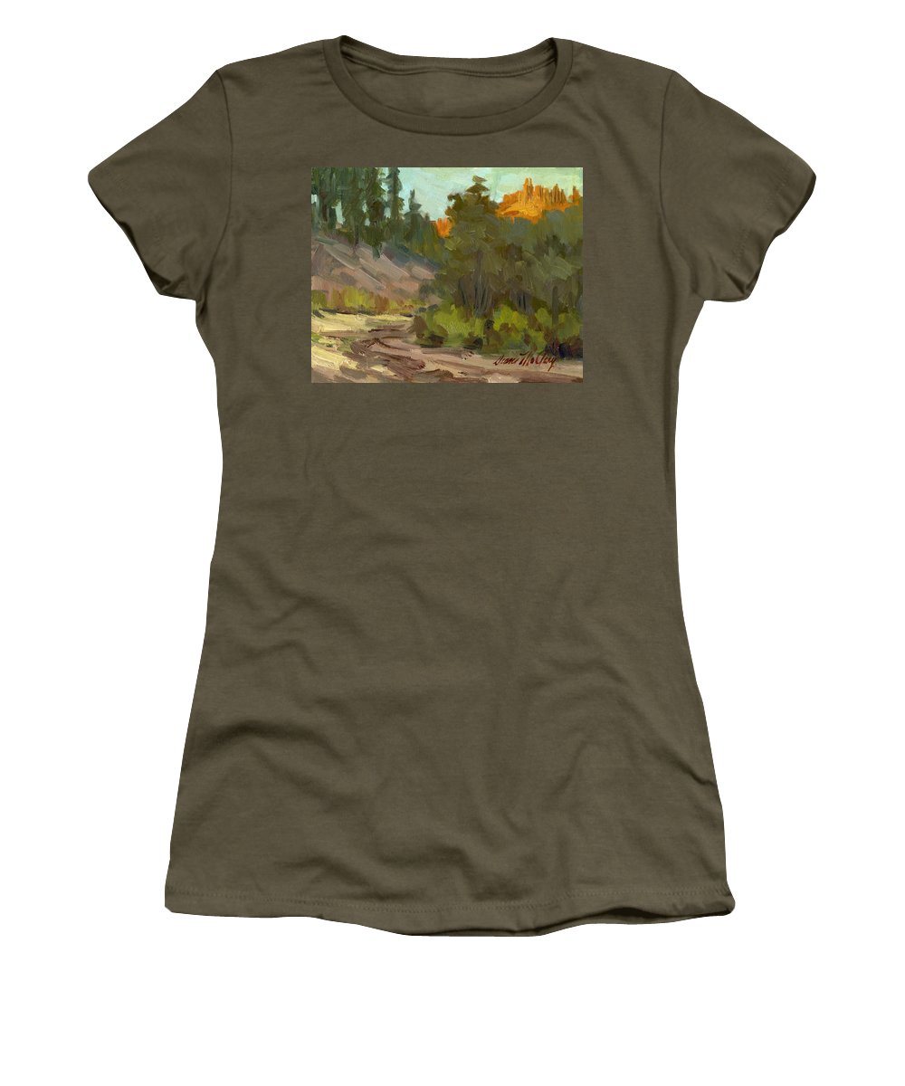 Farm Women's T-Shirt featuring the painting Mcclary Art Farm by Diane McClary