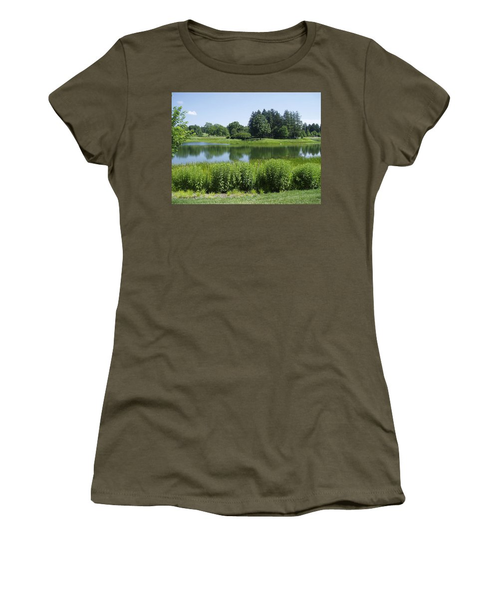 Meadow Lake Women's T-Shirt featuring the photograph Meadow Lake by Verana Stark