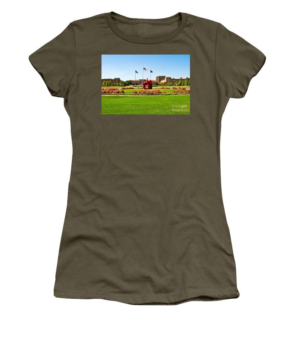 Memorial Circle Women's T-Shirt featuring the photograph Memorial Circle by Mae Wertz