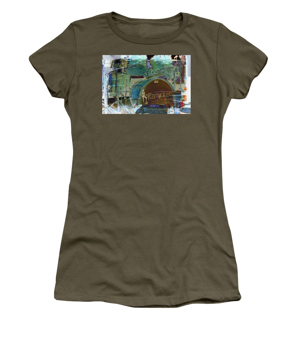 Wright Women's T-Shirt featuring the photograph Mick's Drums by Paulette B Wright