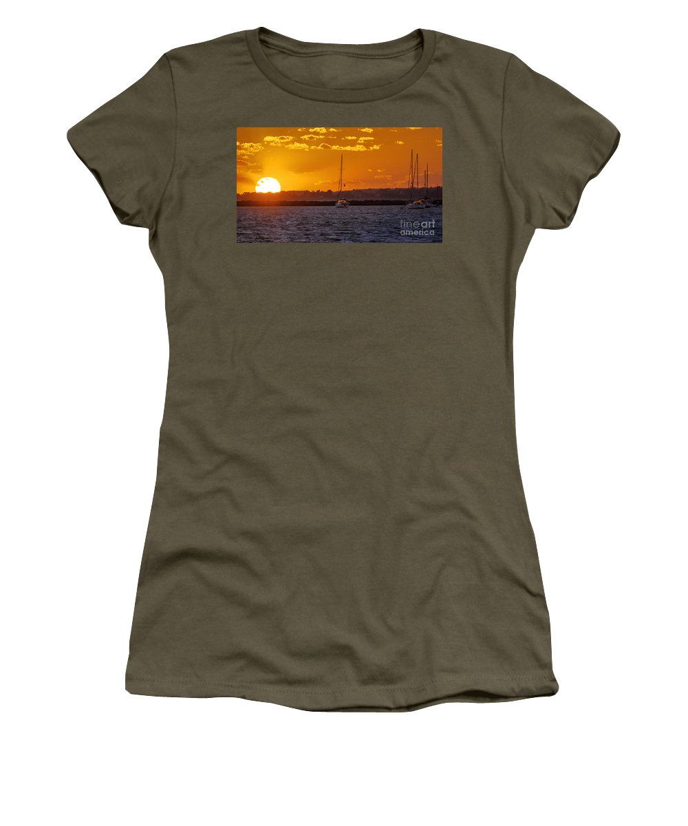 Atlantic Women's T-Shirt featuring the photograph Mid Week Sunset by Joe Geraci